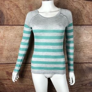 Converse top long sleeve striped perforated (a62)